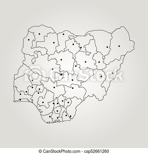 Map Of Nigeria Vector Illustration World Map