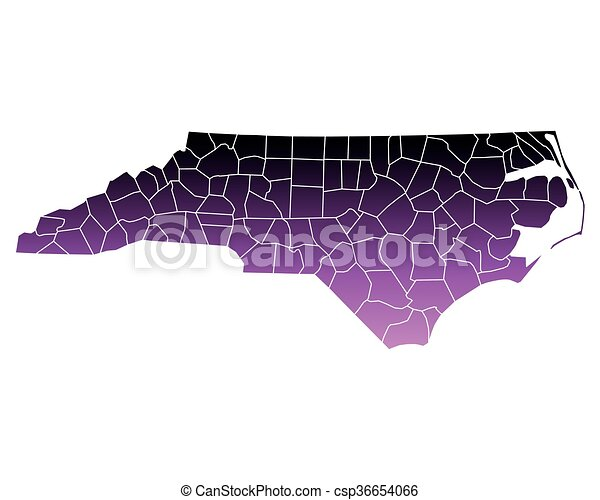 Map of North Carolina - csp36654066