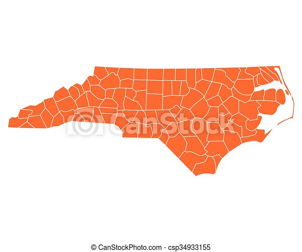 Map of North Carolina - csp34933155