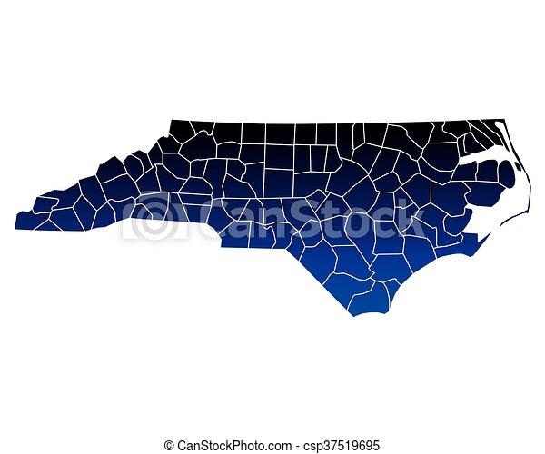 Map of North Carolina - csp37519695