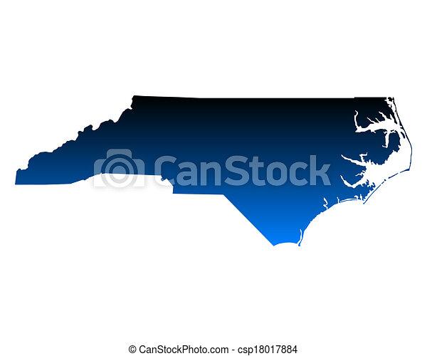 Map of North Carolina - csp18017884