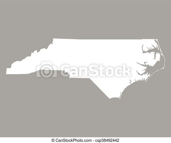 Map of North Carolina - csp38492442