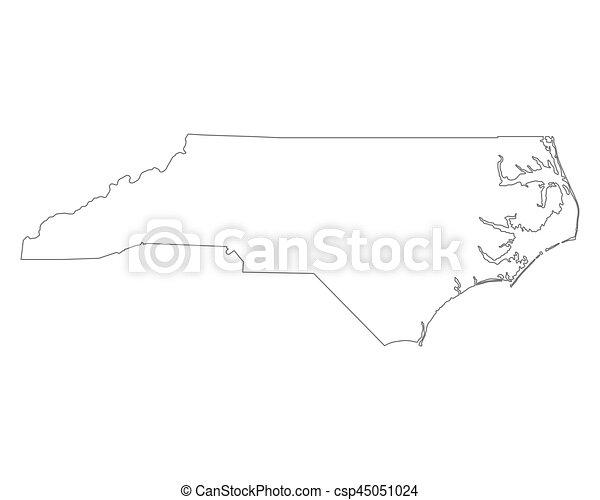 Map of North Carolina - csp45051024