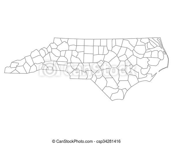 Map of North Carolina - csp34281416