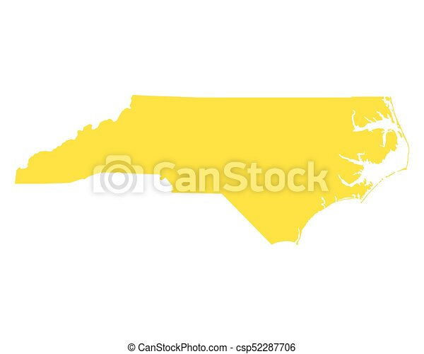 Map of North Carolina - csp52287706