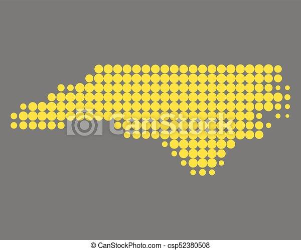 Map of North Carolina - csp52380508