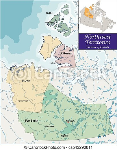 Map of northwest territories the northwest territories is a map of northwest territories csp43290811 gumiabroncs Gallery