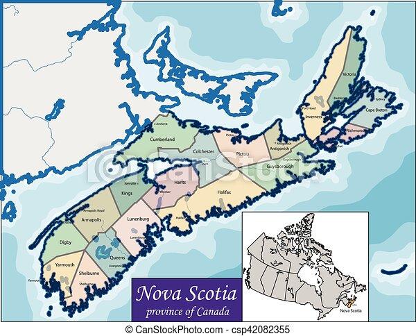 Map of Nova Scotia - csp42082355