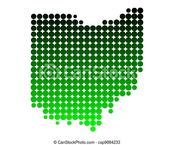 Map of Ohio - csp9884233