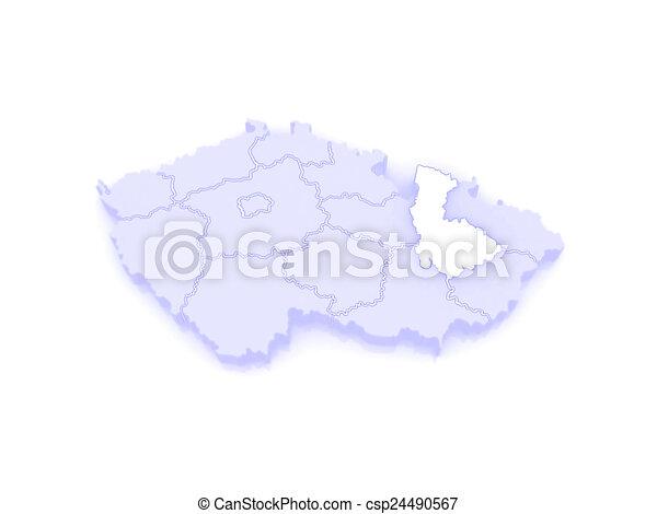 Map of olomouc czech republic 3d stock illustration Search Clip