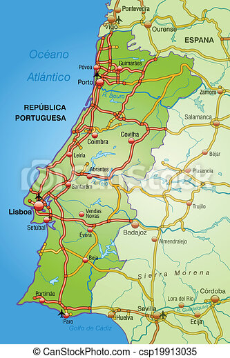 Map Of Portugal With Highways