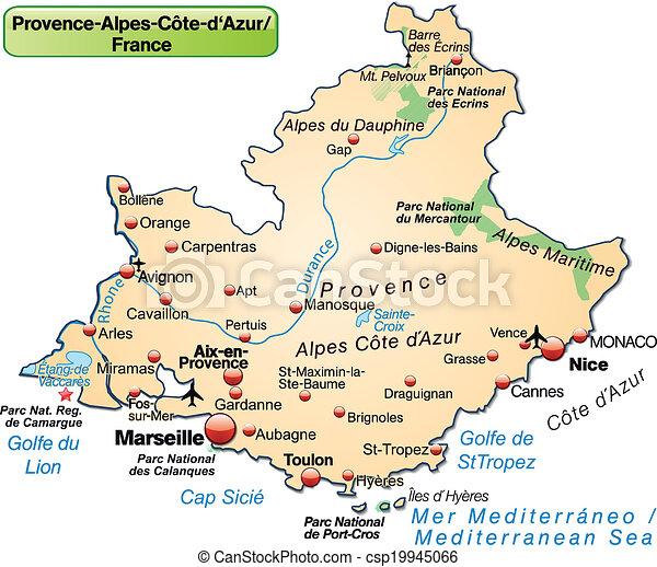 Map Of Provence Alpes Cote D Azur