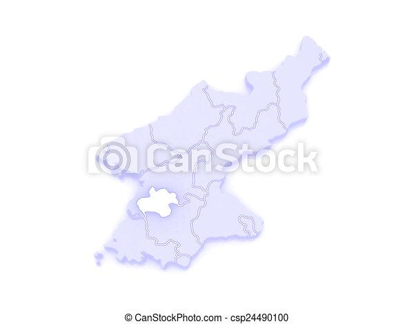 Map Of Pyongyang Chikhalsi North Korea 3d