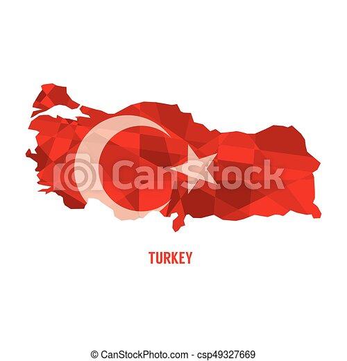 Map of republic of turkey vector illustration clip art vector ...
