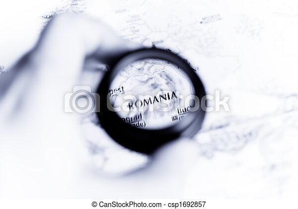 Map of Romania - csp1692857