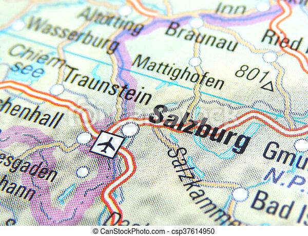 Map Of Salzburg Austria