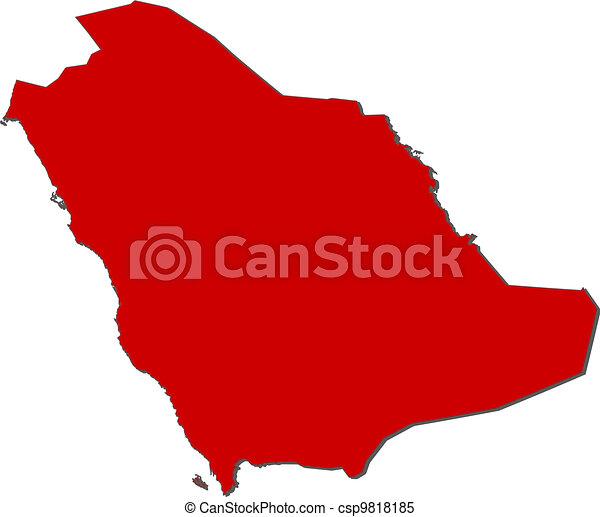 Map of saudi arabia. Political map of saudi arabia with the several ...