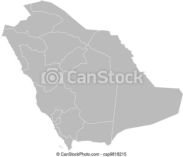 Map Of Saudi Arabia Political Map Of Saudi Arabia With The Several