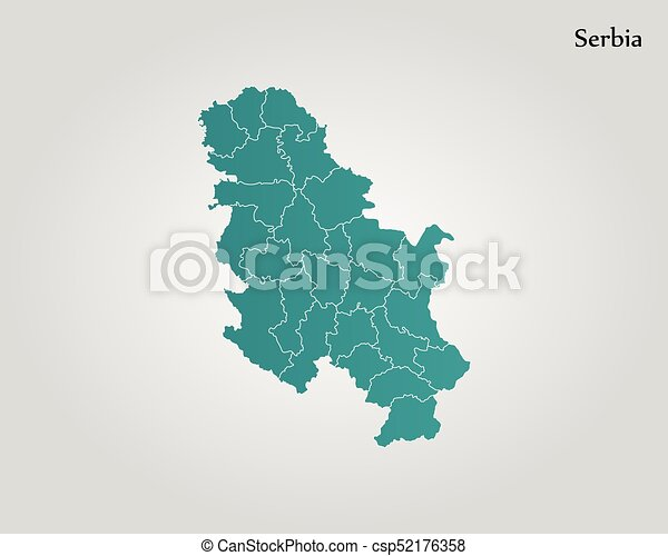 Map Of Serbia Vector Illustration World Map