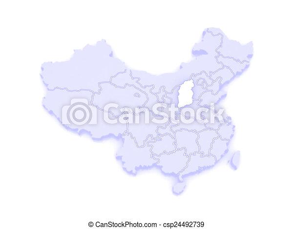 Shanxi China Map.Map Of Shanxi China 3d
