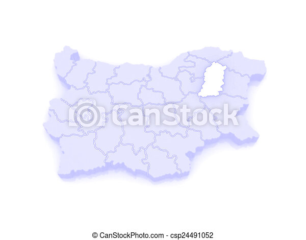 Map of shumen province bulgaria 3d stock illustrations Search