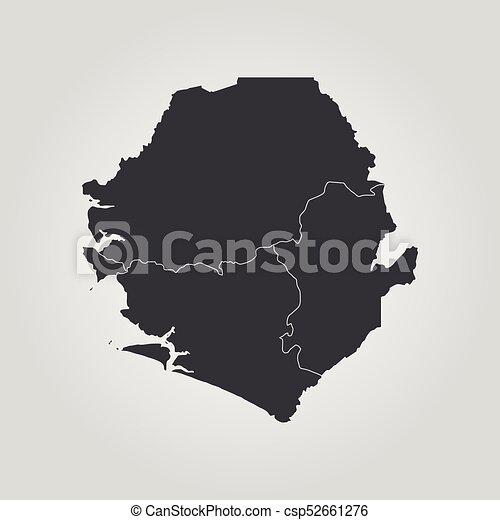 Map Of Sierra Leone Vector Illustration World Map