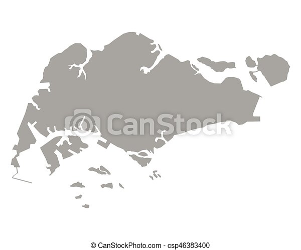 Map of singapore vector clipart Search Illustration Drawings