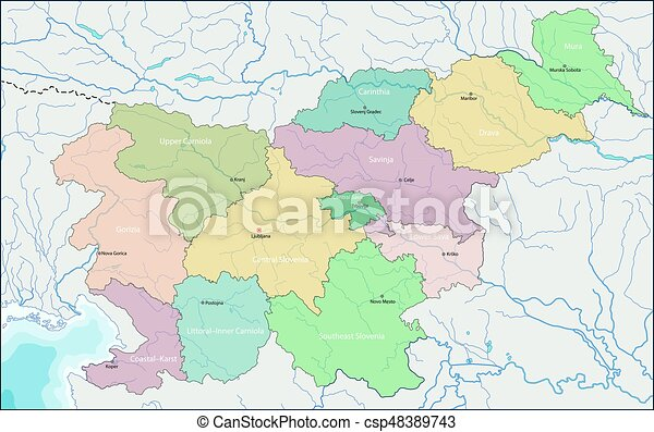 Map of slovenia. Slovenia is a nation state in southern central ...