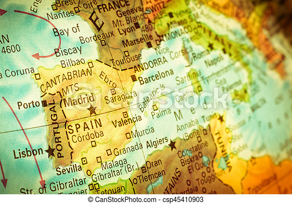 Map Of Spain Portugal And France.Map Of Spain And Portugal Close Up Image Map Spain Portugal
