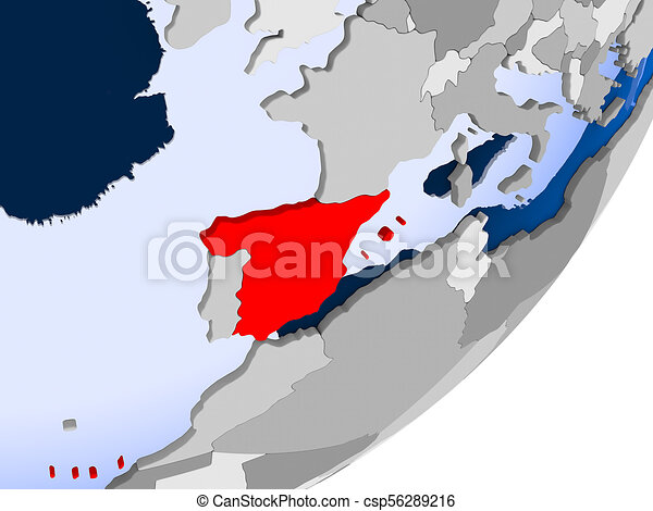 Map Of Spain Oceans.Map Of Spain