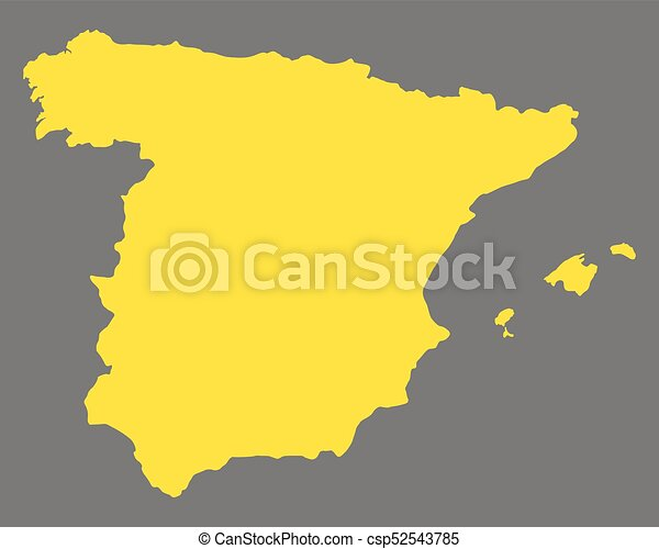 Map Of Spain Drawing.Map Of Spain