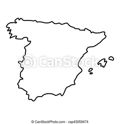 Map Of Spain Icon Outline Style Map Of Spain Icon Outline