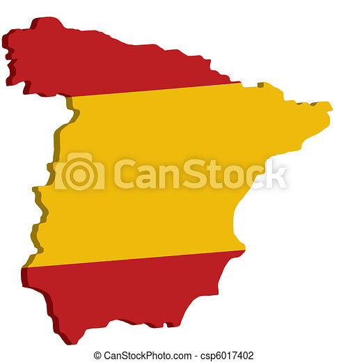 map of spain with flag - csp6017402