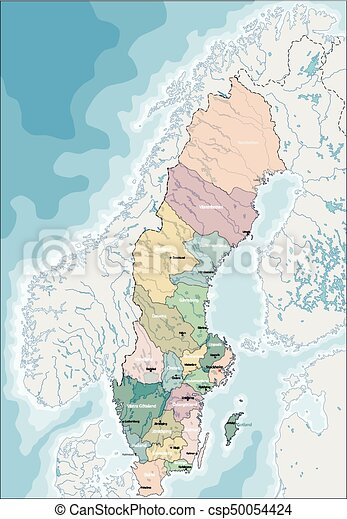 Map of Sweden - csp50054424