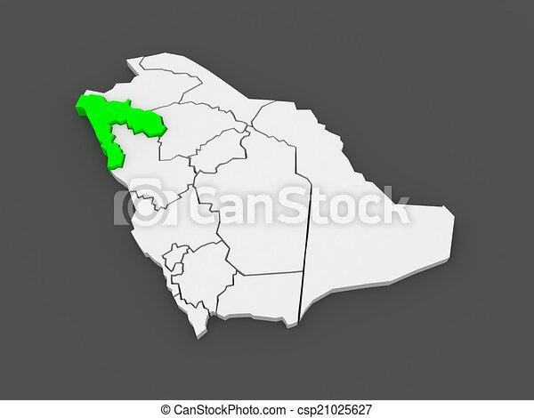 Map of tabuk saudi arabia 3d clip art Search Illustration