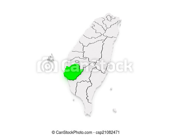 Map of tainan city taiwan 3d stock illustrations Search EPS