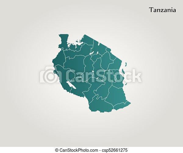 Map of tanzania vector illustration world map vectors illustration