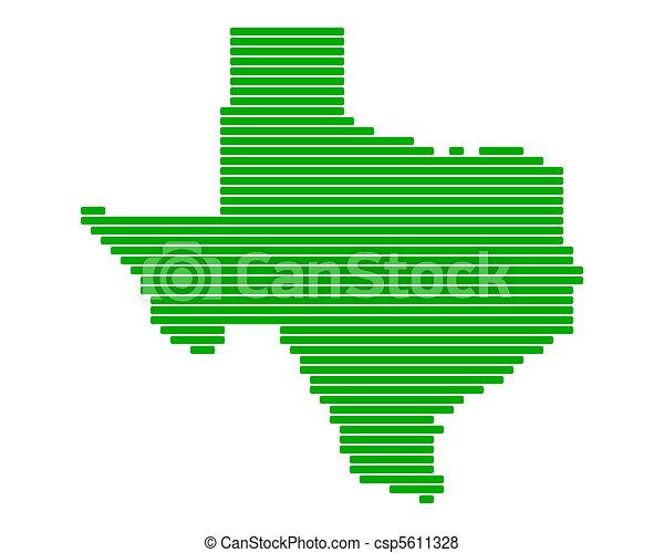 Map of Texas - csp5611328