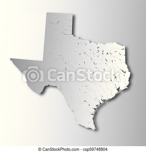 Map Of Texas Please.Map Of Texas With Lakes And Rivers