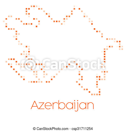 Map of the country of Azerbaijan - csp31711254