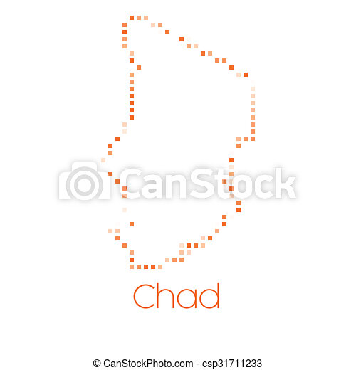 Map of the country of Chad - csp31711233