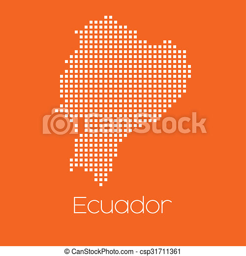 Map of the country of Ecuador - csp31711361