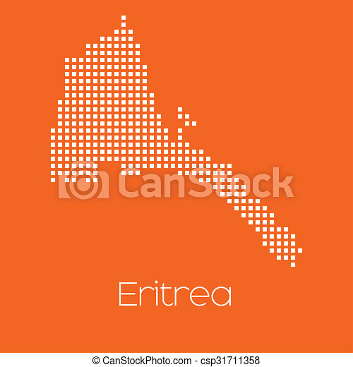 Map of the country of Eritrea - csp31711358