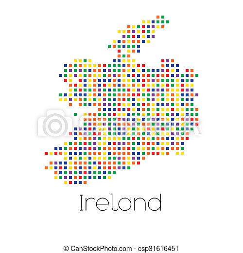 Country Map Of Ireland.A Map Of The Country Of Ireland