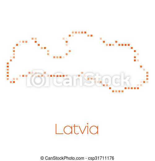 Map of the country of Latvia - csp31711176