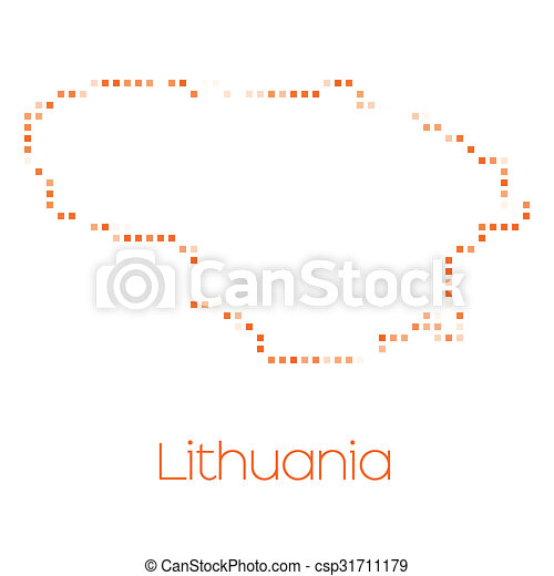 Map of the country of Lithuania - csp31711179