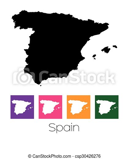 Map of the country of Spain - csp30426276