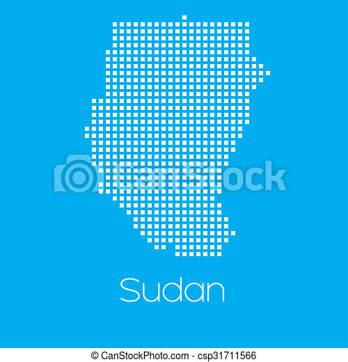 Map of the country of Sudan - csp31711566