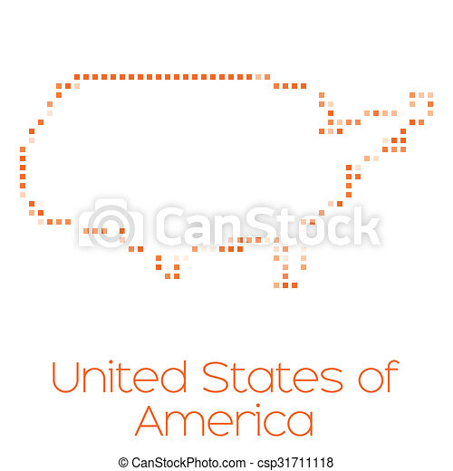 Map of the country of United States of America - csp31711118