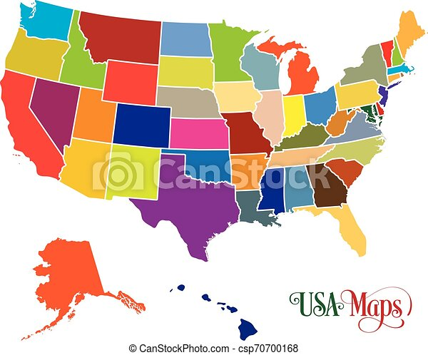 Map of The United States of America (USA) with Colorful States Illustration Usa Maps States on usa state people, usa 50 states, usa state mape, usa state statistics, usa state abbreviation, usa northeast, usa flag, usa state list, states and capitals map, united states map, usa state letter, destin florida map, usa state names, world map, usa state timeline, usa globe, usa state game, usa state parks, usa maps with cities only, usa states and capitals,